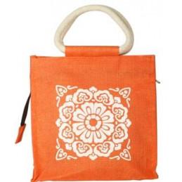 Lunch Jute Bag - Orange...