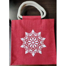 Lunch Jute Bag - Red...