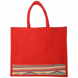Jute Tote Bag - Red...