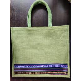 Jute Tote Bag - Green...